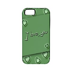 Card I Love You Heart Romantic Apple Iphone 5 Classic Hardshell Case (pc+silicone)