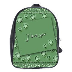 Card I Love You Heart Romantic School Bag (xl)