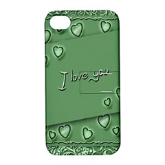 Card I Love You Heart Romantic Apple Iphone 4/4s Hardshell Case With Stand