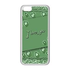 Card I Love You Heart Romantic Apple Iphone 5c Seamless Case (white)