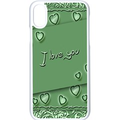 Card I Love You Heart Romantic Apple Iphone X Seamless Case (white)