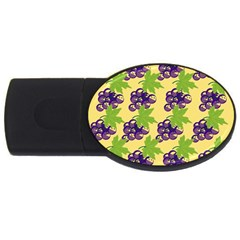 Grapes Background Sheet Leaves Usb Flash Drive Oval (4 Gb) by Sapixe