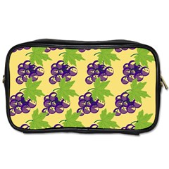 Grapes Background Sheet Leaves Toiletries Bags by Sapixe
