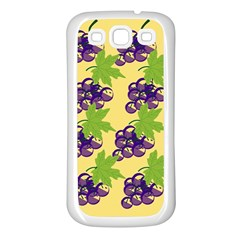 Grapes Background Sheet Leaves Samsung Galaxy S3 Back Case (white)