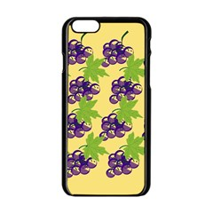 Grapes Background Sheet Leaves Apple Iphone 6/6s Black Enamel Case by Sapixe