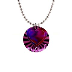 Background Texture Reason Heart Button Necklaces