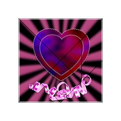 Background Texture Reason Heart Acrylic Tangram Puzzle (4  X 4 )