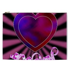 Background Texture Reason Heart Cosmetic Bag (xxl)