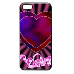 Background Texture Reason Heart Apple Iphone 5 Seamless Case (black)