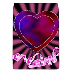 Background Texture Reason Heart Flap Covers (l)