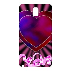 Background Texture Reason Heart Samsung Galaxy Note 3 N9005 Hardshell Back Case