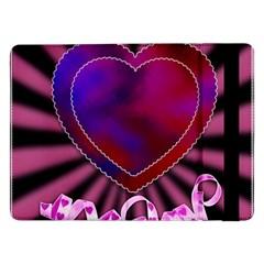 Background Texture Reason Heart Samsung Galaxy Tab Pro 12 2  Flip Case