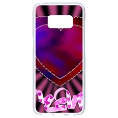 Background Texture Reason Heart Samsung Galaxy S8 White Seamless Case