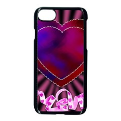 Background Texture Reason Heart Apple Iphone 8 Seamless Case (black)