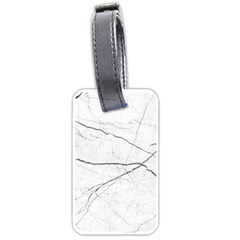 White Background Pattern Tile Luggage Tags (one Side)  by Sapixe