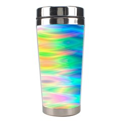 Wave Rainbow Bright Texture Stainless Steel Travel Tumblers