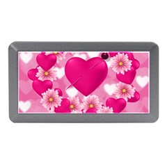 Background Flowers Texture Love Memory Card Reader (mini)
