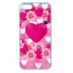 Background Flowers Texture Love Apple Seamless Iphone 5 Case (color)