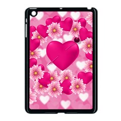 Background Flowers Texture Love Apple Ipad Mini Case (black)