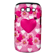 Background Flowers Texture Love Samsung Galaxy S Iii Classic Hardshell Case (pc+silicone)