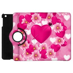 Background Flowers Texture Love Apple Ipad Mini Flip 360 Case