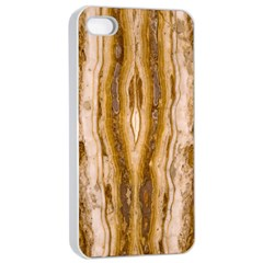 Marble Wall Surface Pattern Apple Iphone 4/4s Seamless Case (white)