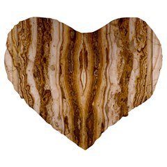 Marble Wall Surface Pattern Large 19  Premium Flano Heart Shape Cushions
