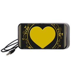 Background Heart Romantic Love Portable Speaker