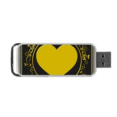 Background Heart Romantic Love Portable Usb Flash (one Side)