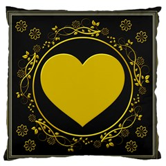 Background Heart Romantic Love Large Flano Cushion Case (two Sides)