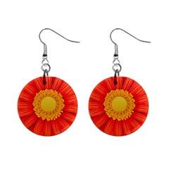 Flower Plant Petal Summer Color Mini Button Earrings
