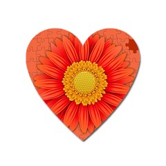 Flower Plant Petal Summer Color Heart Magnet by Sapixe