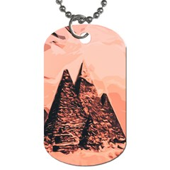 Pyramid Egypt Monumental Dog Tag (two Sides) by Sapixe