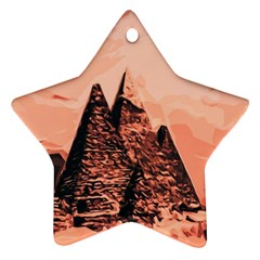Pyramid Egypt Monumental Star Ornament (two Sides) by Sapixe