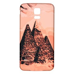 Pyramid Egypt Monumental Samsung Galaxy S5 Back Case (white) by Sapixe