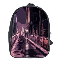 Texture Abstract Background City School Bag (xl)