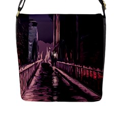 Texture Abstract Background City Flap Messenger Bag (l)