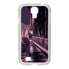 Texture Abstract Background City Samsung Galaxy S4 I9500/ I9505 Case (white)