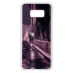 Texture Abstract Background City Samsung Galaxy S8 Plus White Seamless Case