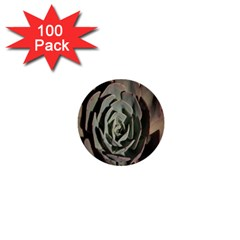 Succulent Green Pink Rosettes 1  Mini Buttons (100 Pack)  by Sapixe
