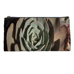 Succulent Green Pink Rosettes Pencil Cases