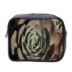 Succulent Green Pink Rosettes Mini Toiletries Bag 2 Side