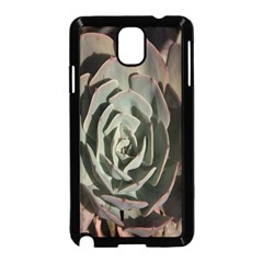 Succulent Green Pink Rosettes Samsung Galaxy Note 3 Neo Hardshell Case (black)