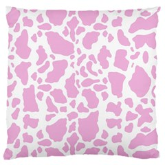 White Pink Cow Print Large Cushion Case (two Sides)