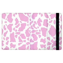 White Pink Cow Print Apple Ipad 3/4 Flip Case