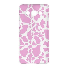 White Pink Cow Print Samsung Galaxy A5 Hardshell Case