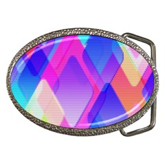 Squares Color Squares Background Belt Buckles