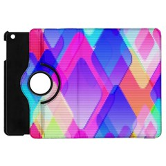 Squares Color Squares Background Apple Ipad Mini Flip 360 Case