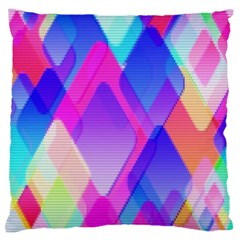 Squares Color Squares Background Standard Flano Cushion Case (one Side)
