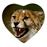 Cheetah Ornament (Heart)